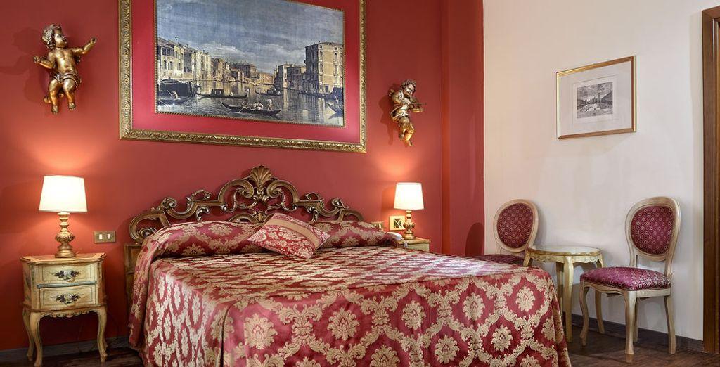 Tu habitación Superior es perfecta para una escapada romántica