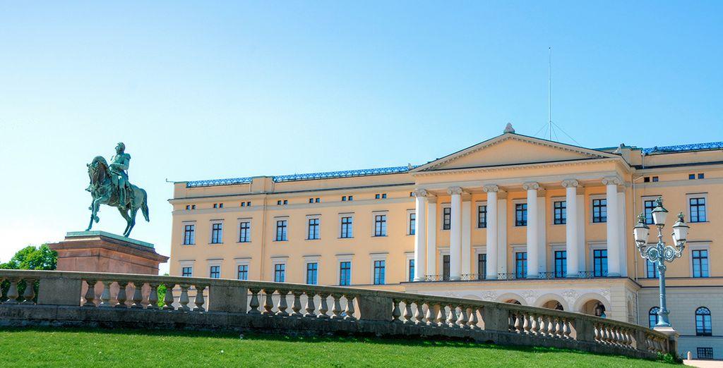 Descubre el Palacio Real de Oslo, que data del siglo XIX