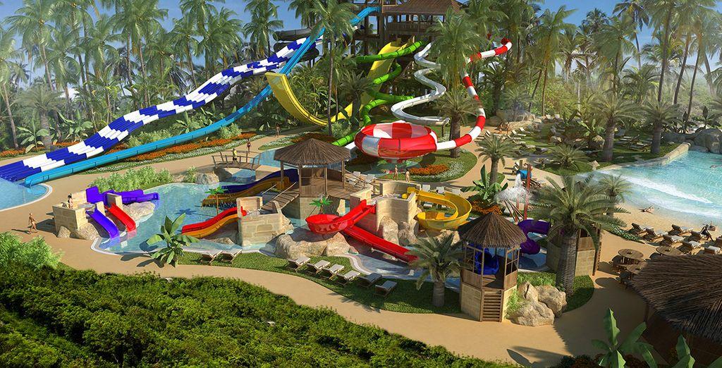 Tendrás acceso ilimitado al Parque acuático más grande del Caribe