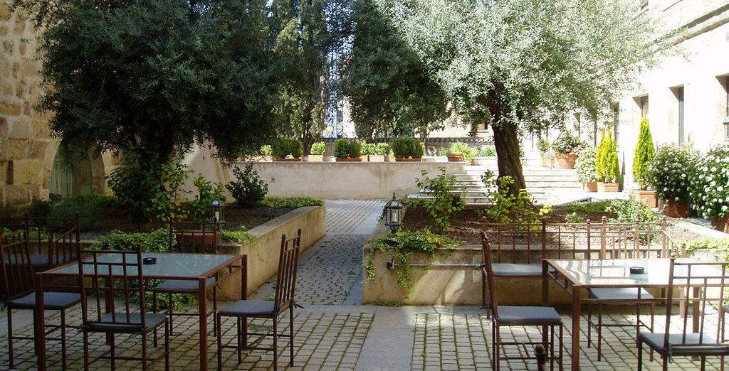 Una terraza donde disfrutar del aire libre