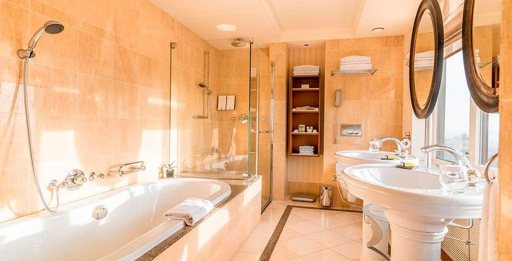 Y un baño completamente equipado
