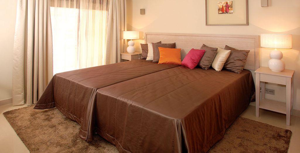 Con dormitorios de lo más confortable