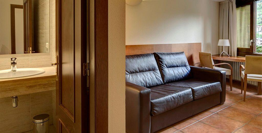 Un espacio amplio y confortable, completamente equipado