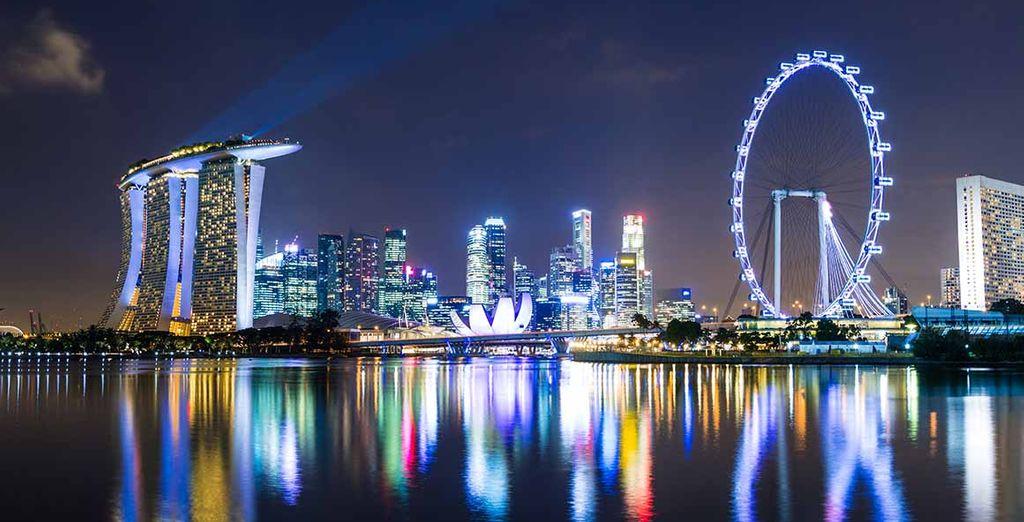 Pase 1 noche en la moderna ciudad de Singapore