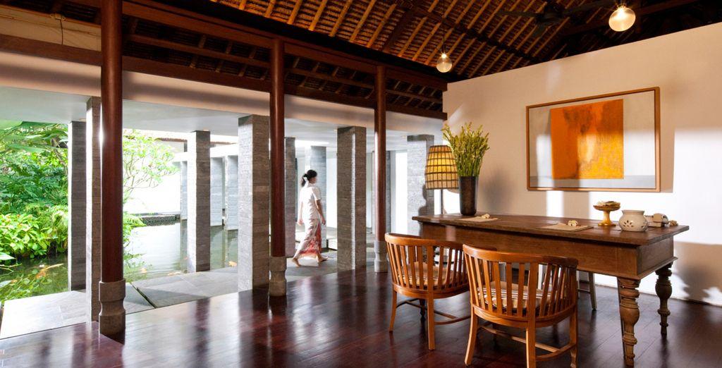 Disfrute de la tranquilidad y hospitalidad del hotel