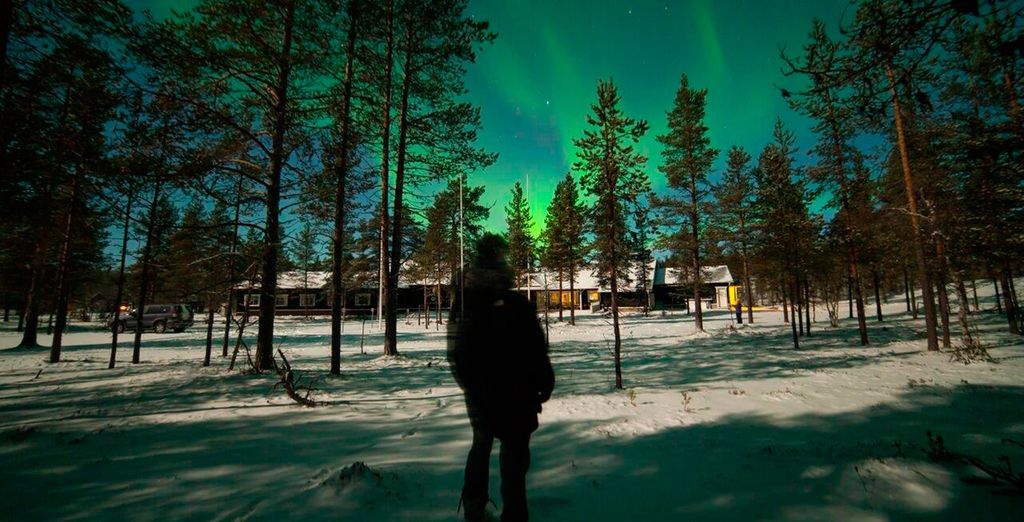 El hotel se ubica en un punto perfecto para disfrutar de la aurora boreal