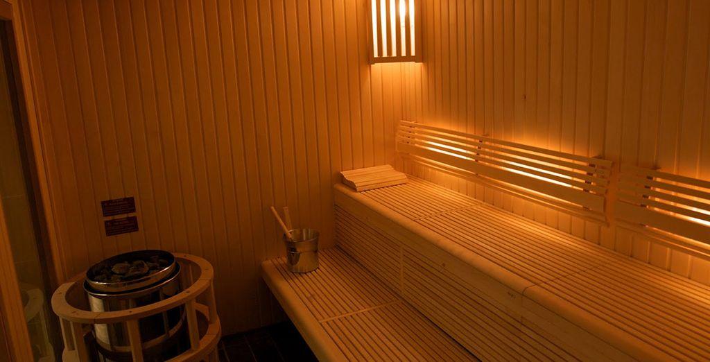 Disfrute de la relajanate sauna