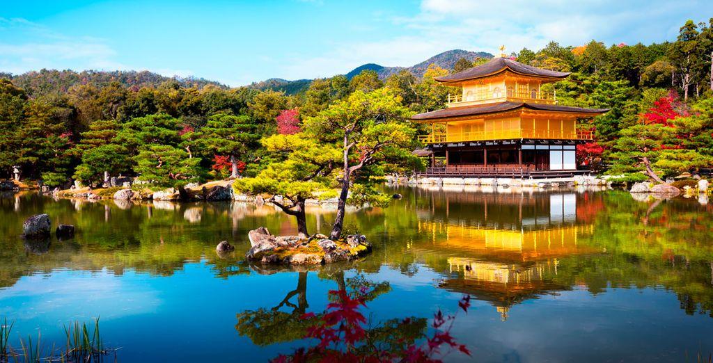 El Templo Kinkaku Ji no te dejará indiferente, declarado Patrimonio de la Humanidad por la UNESCO