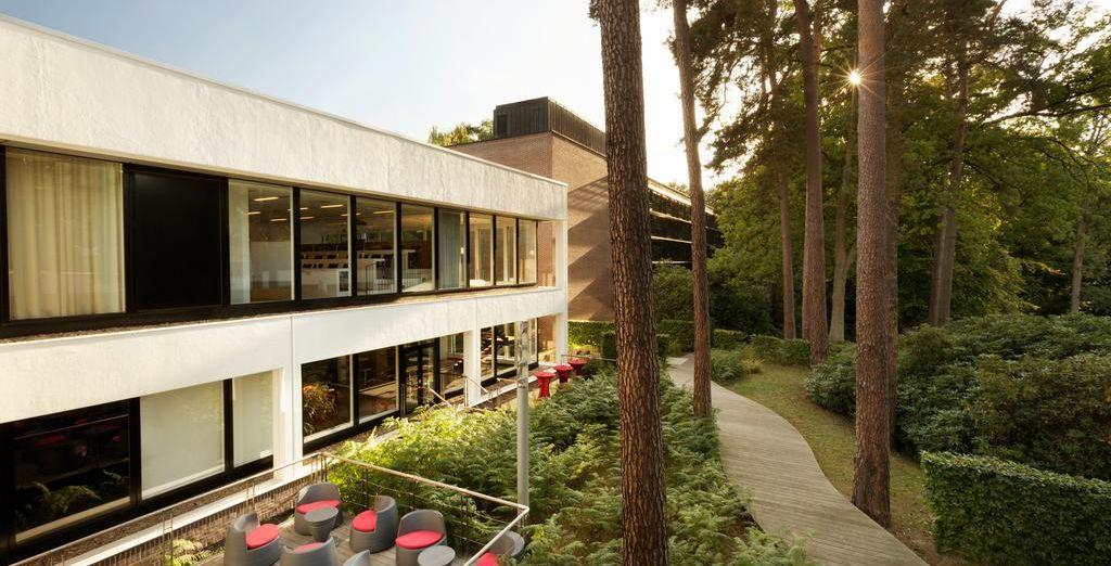 ... y relajarte en contacto con el bosque que rodea al hotel