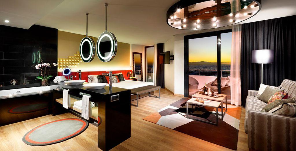 Una suite con todo lo que siempre has soñado, incluyendo un jacuzzi espectacular