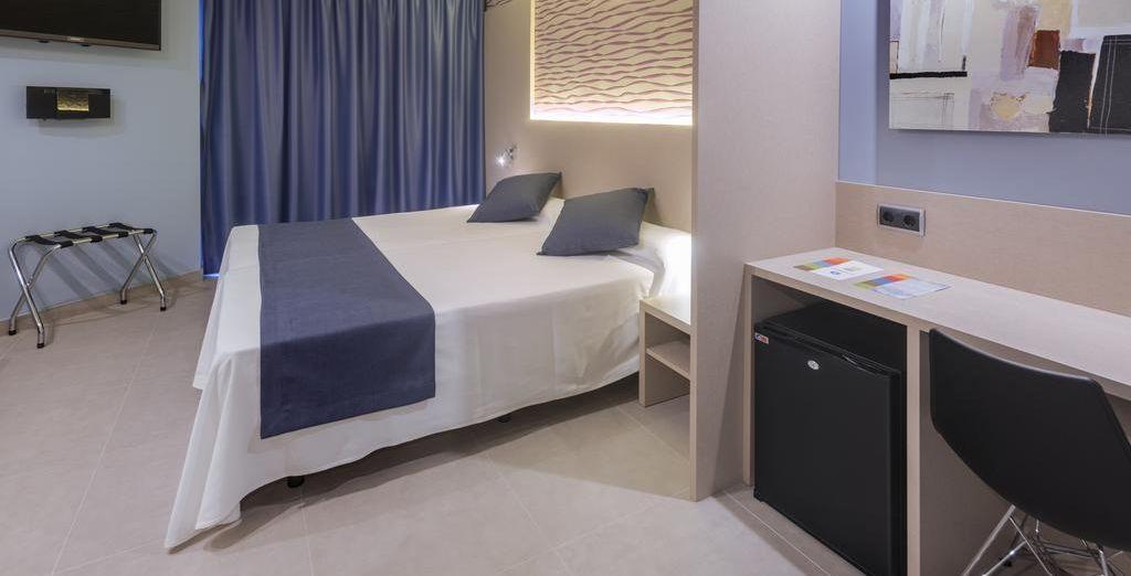 También puedes seleccionar una habitación Premium en el segundo paso de la compra