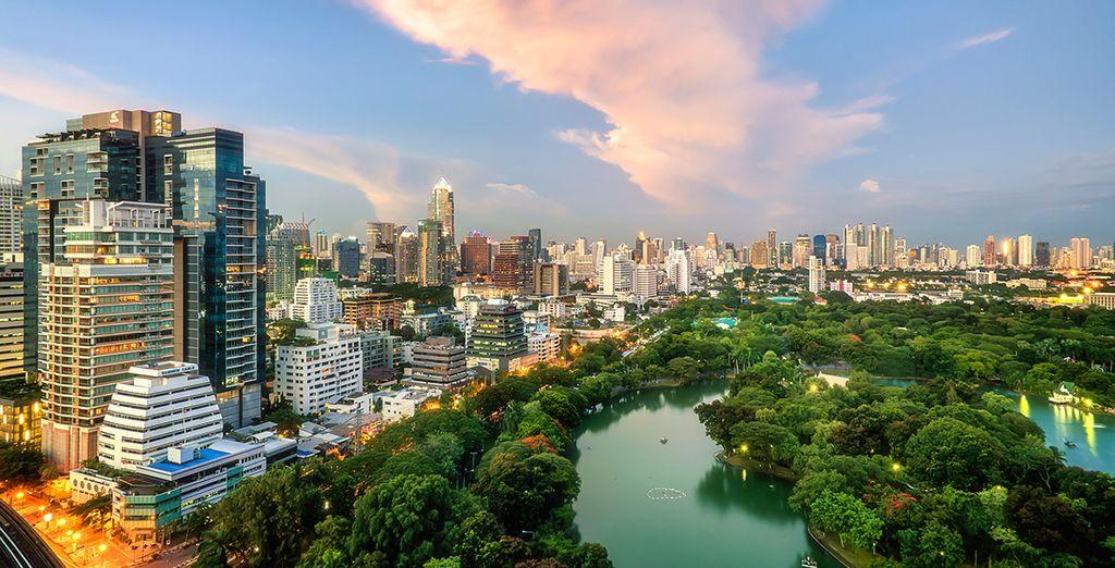 Una ciudad moderna y vibrante