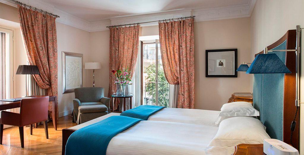 Si reservas para 2 adultos + 1 bebé/niño o 3 adultos, recibiréis una mejora garantizada a habitación Deluxe