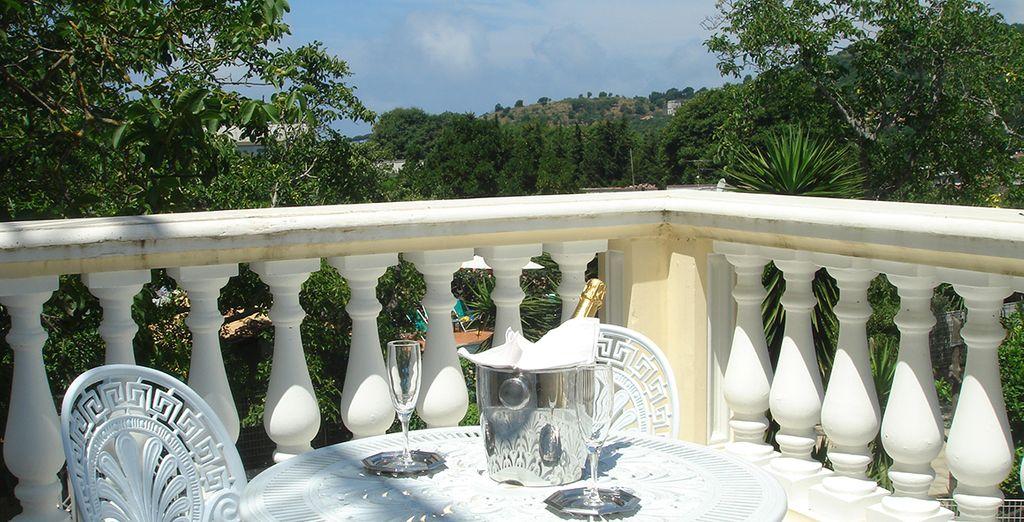 Disfrute de maravillosas vistas desde la terraza