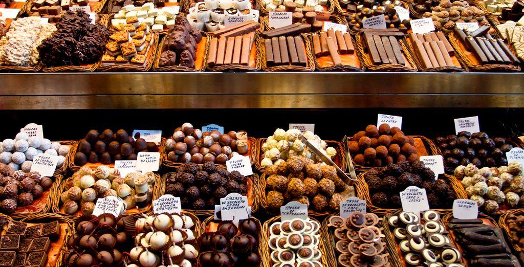 Haga sus delicias con el chocolate belga