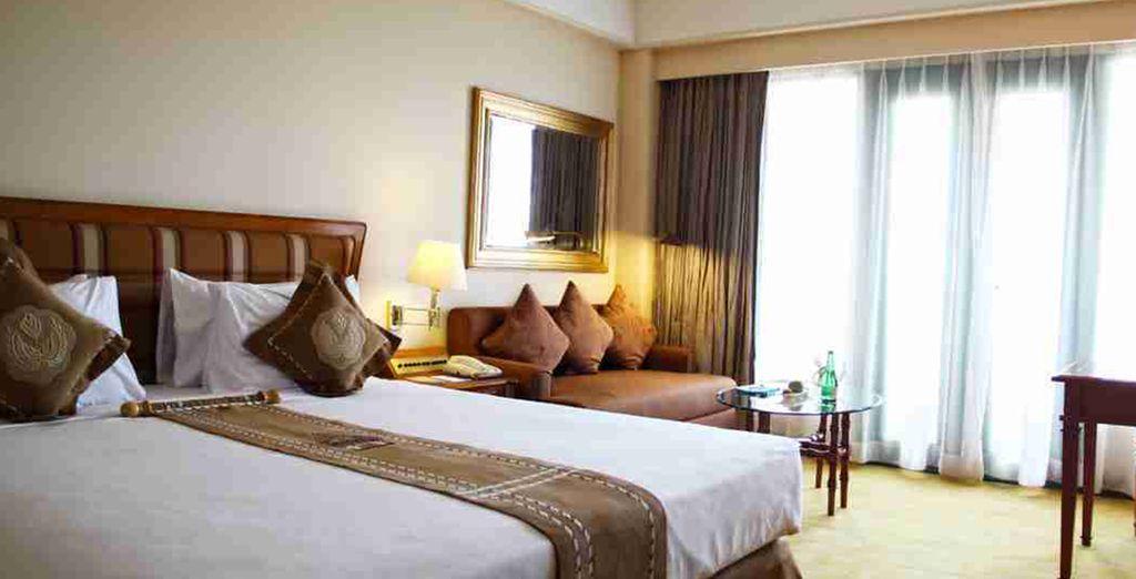 Alójese y desacanse en una habitación Deluxe. Melia Purosani en Yogyakarta