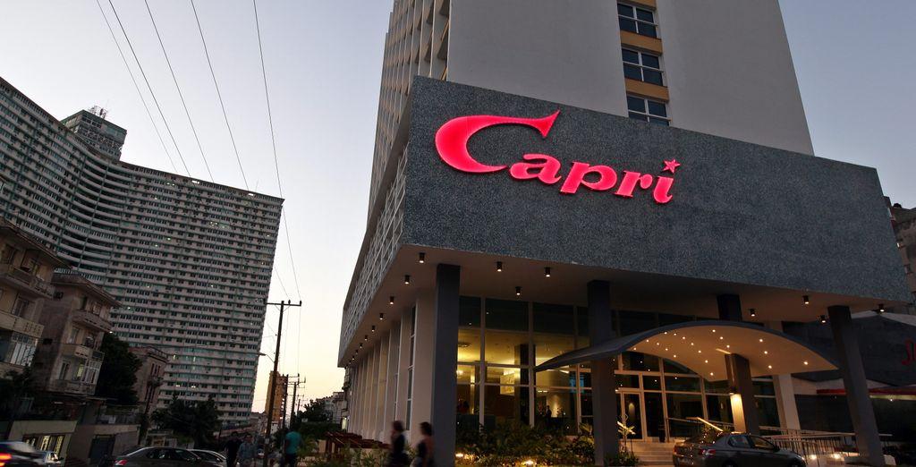 A tu llegada a Cuba te alojarás en el Hotel NH Capri Habana