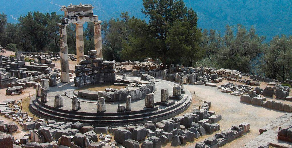 Ruinas del conocido Oráculo de Delfos