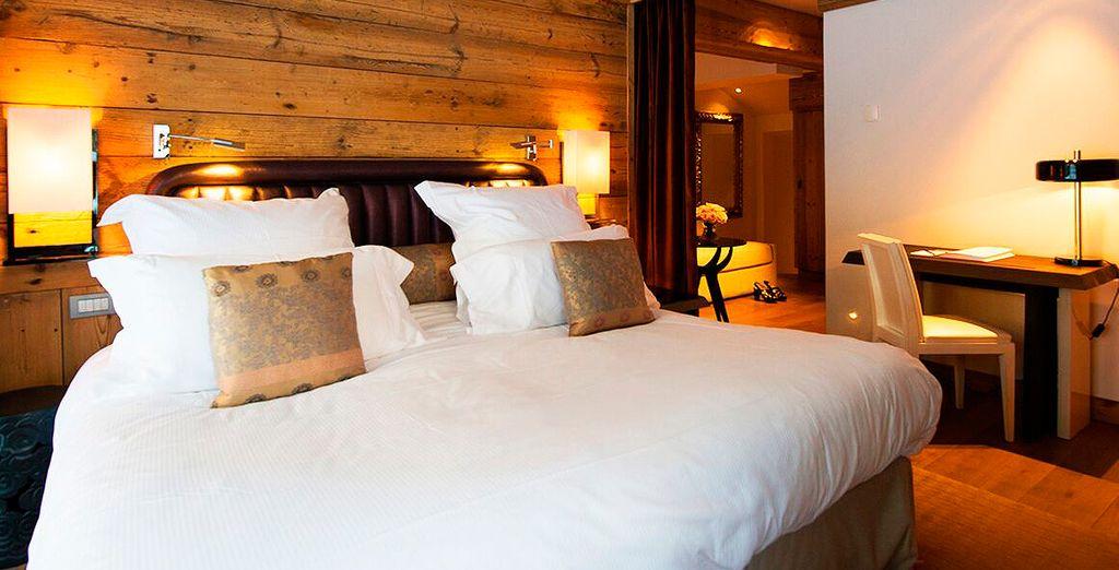 Su cálida y confortable habitación Auténtica