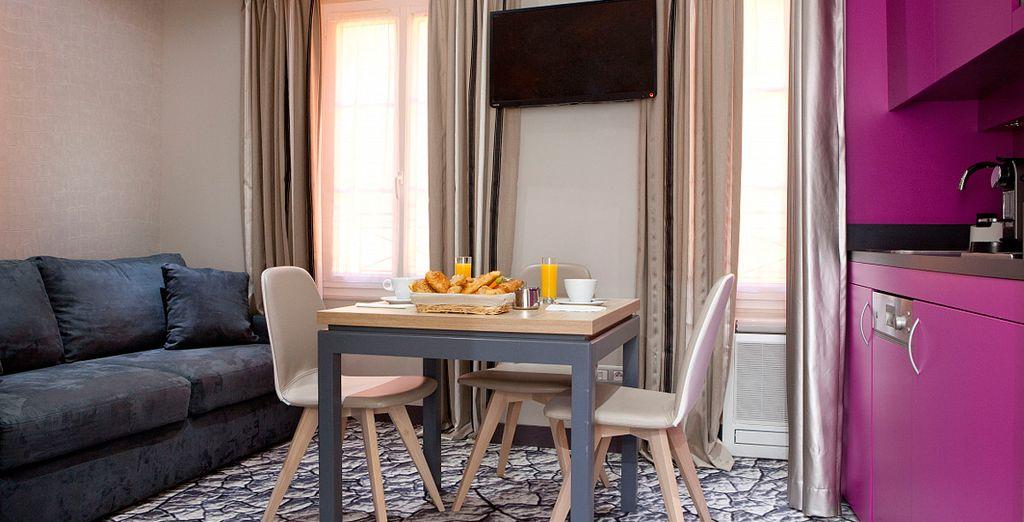 Disfrute de su alojamiento en una Suite Premium