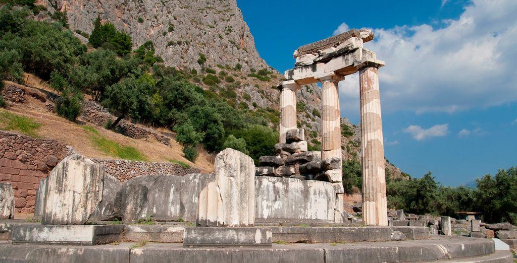 Delfos se ubica en un lugar privilegiado