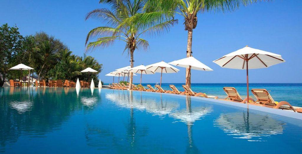 En Maldivas se alojará en el Centara Ras Fushi Resort & Spa 4*