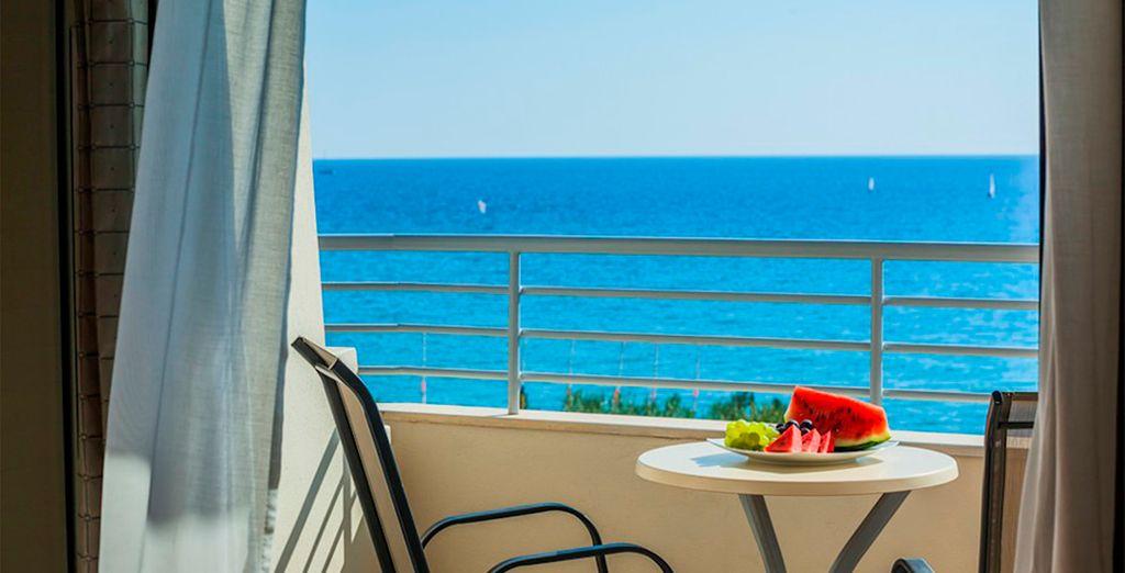 Vistas espectaculares al mar desde su terraza