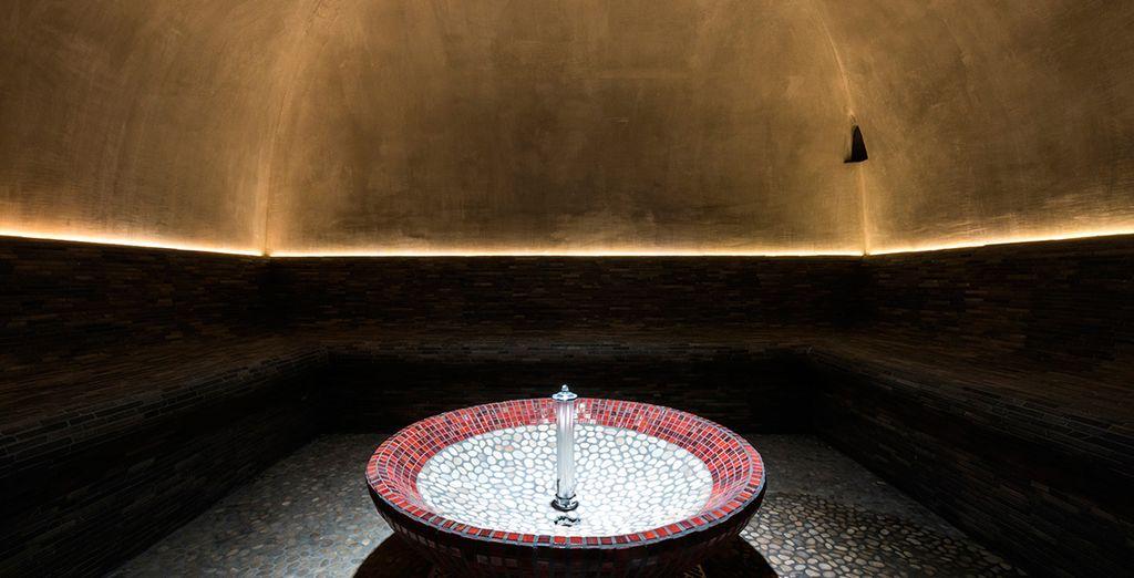 Pruebe el asombros baño turco