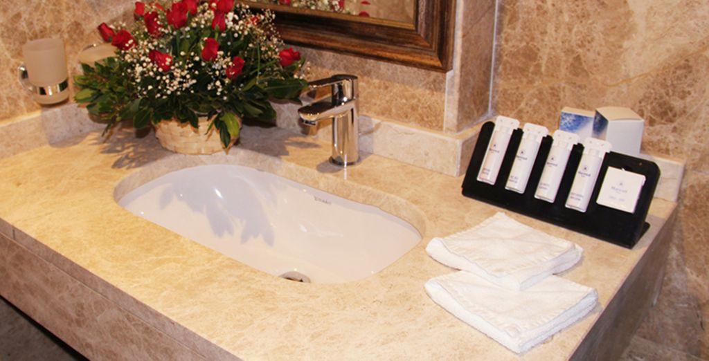 Un baño equipado