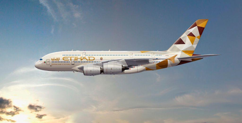 Etihad Airways, la aerolínea nacional de los Emiratos Árabes Unidos, una de las mejores compañías aéreas del mundo