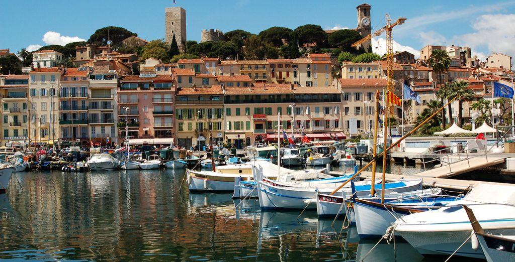 Disfrute del maravilloso entorno que le ofrecerá Cannes