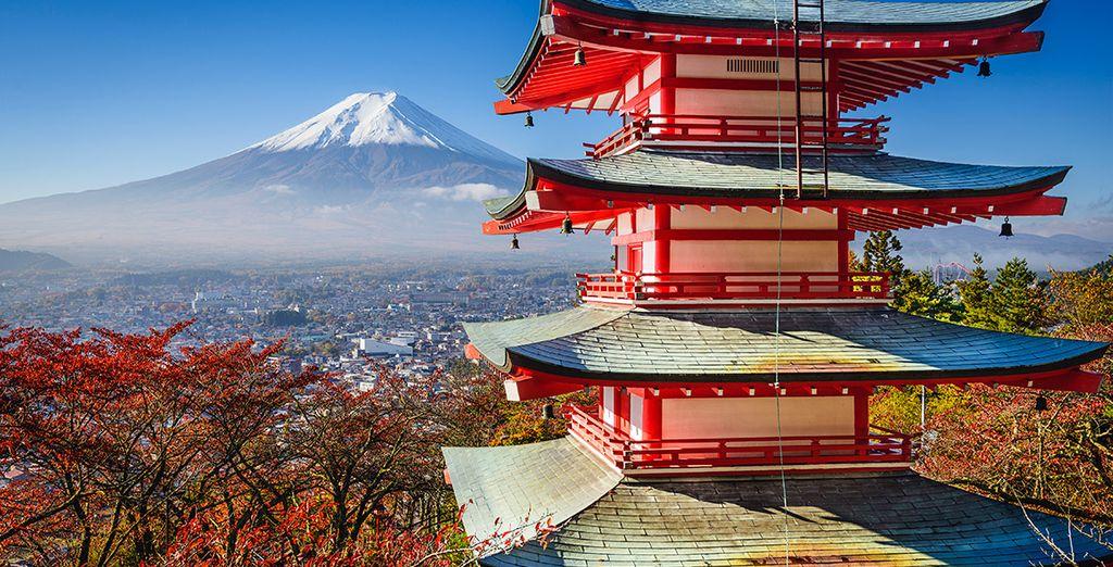 En Kyoto visitarás la Pagoda Kiyomizu