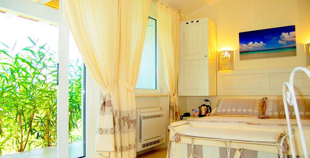 Amplia y luminosa habitación...