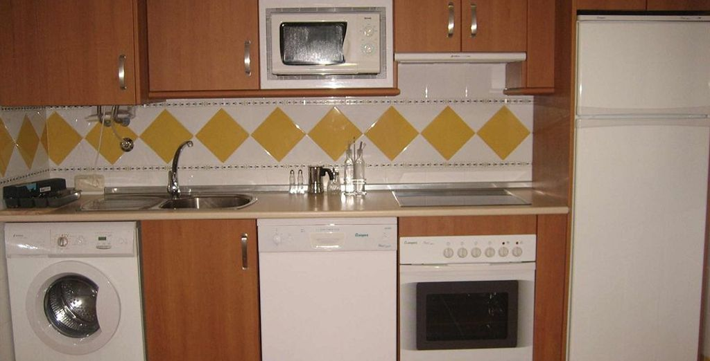 La cocina cuenta con todos los utensilios necesarios