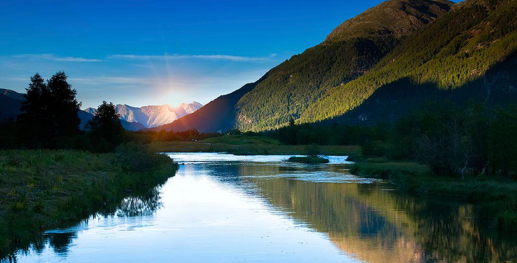 Au cœur des paysages de l'Engadinois, près du lac de Saint-Moritz