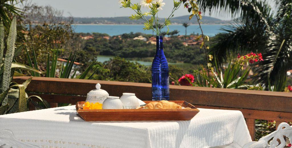 Vous pourrez également choisir la Suite Deluxe et sa terrasse avec vue sur la mer