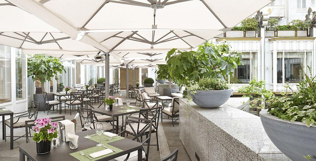 Déjeunez en terrasse 'al fresco'