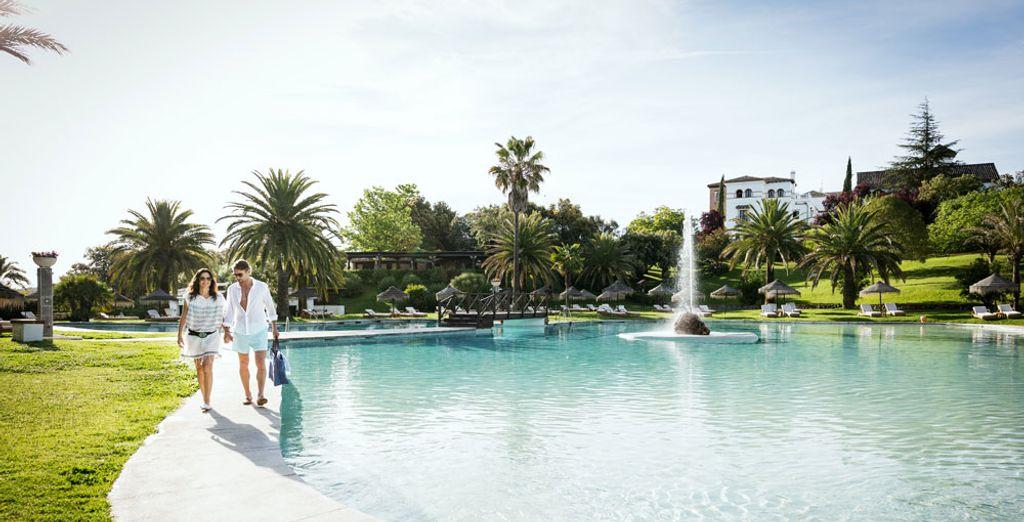 Découvrez la magnifique piscine extérieure