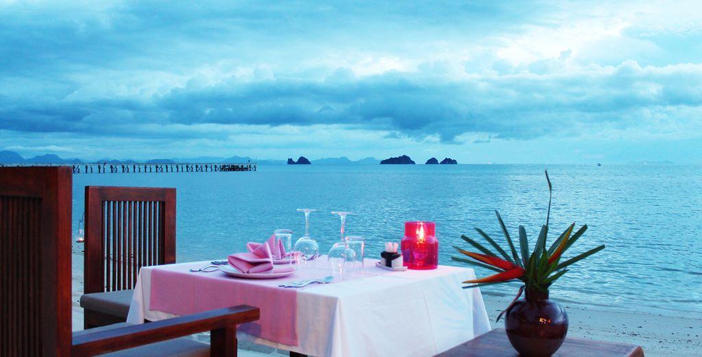 ou offrez-vous un dîner sur la plage