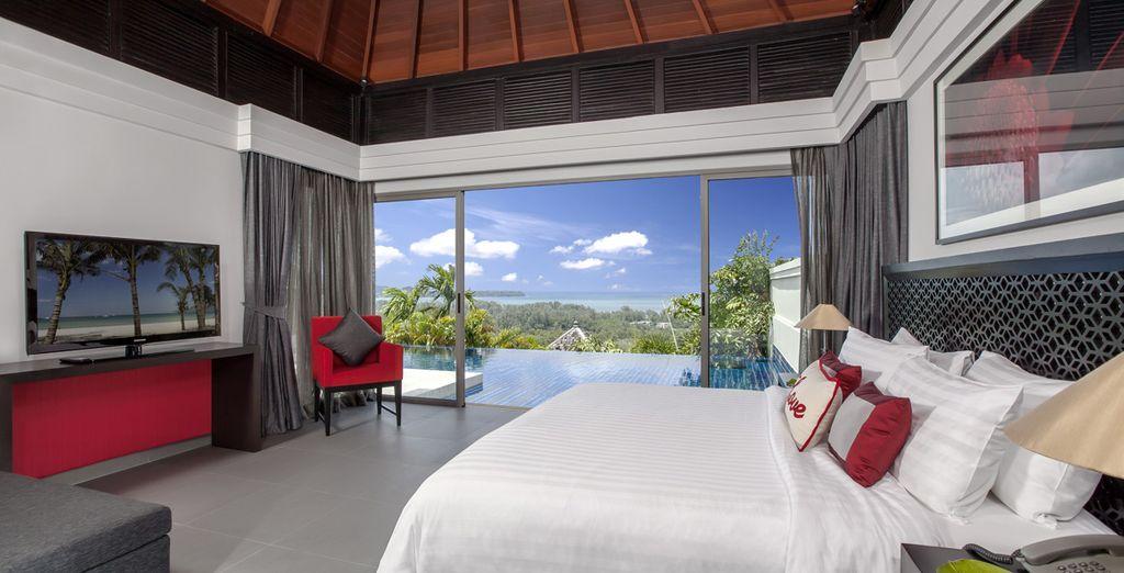 Installez-vous dans votre Ocean View Pool villa