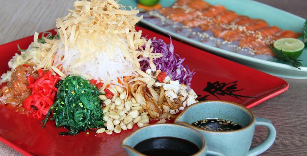 Nourriture japonaise, indonésienne, européennes... Vous aurez le choix