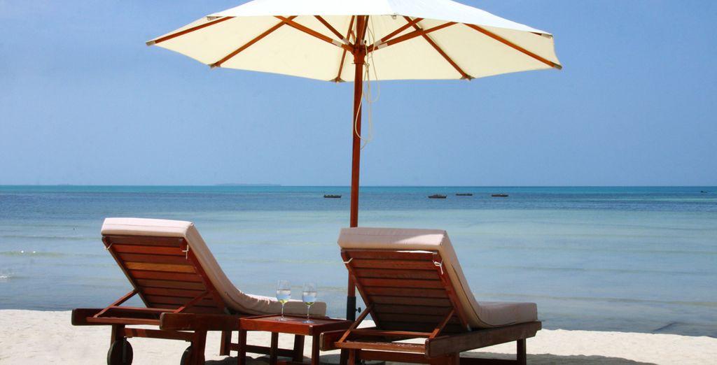 Détendez-vous sur la plage de l'hôtel