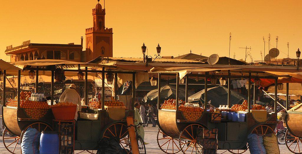 La place Jemaa El Fna...