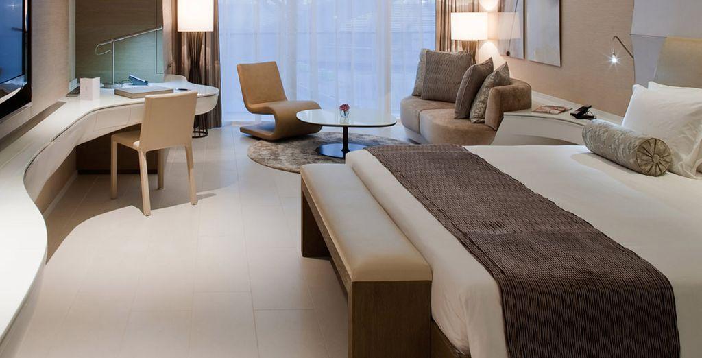 Disposant de chambres au style épuré et élégant