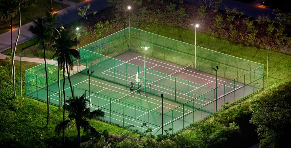 De terrains de tennis