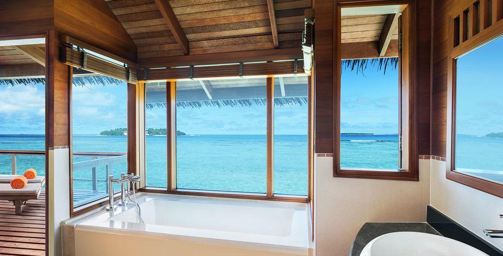 Au milieu de l'atoll des Maldives...