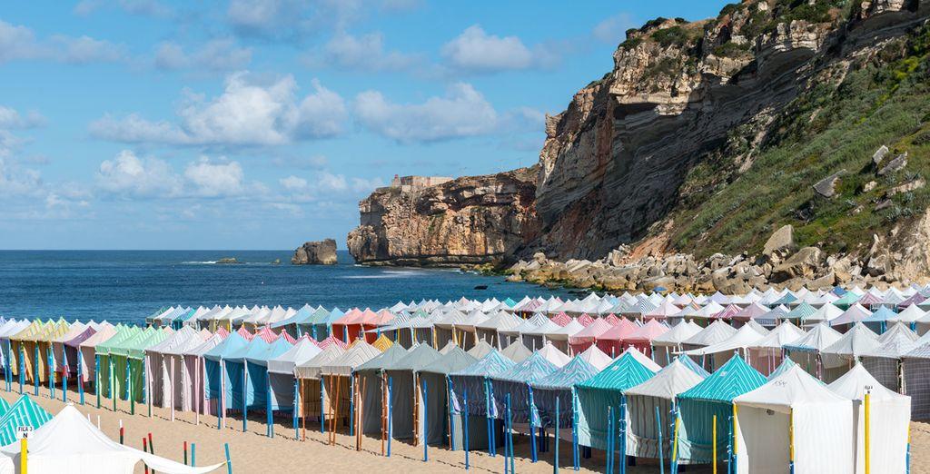Connu pour ces cabines de plages colorées...