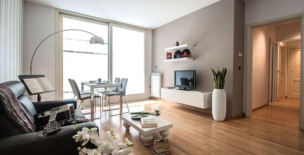 Et séjournez dans un appartement design...