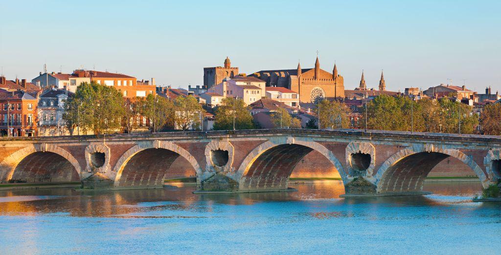 Photographie de la belle ville de Toulouse et du Pont-Neuf