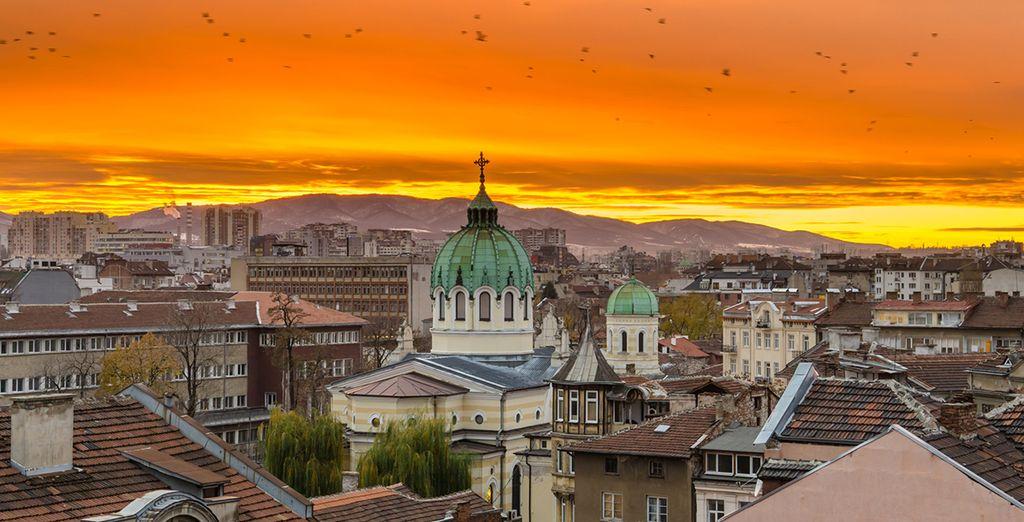 Photographie de la ville de Sofia et ses monuments historiques